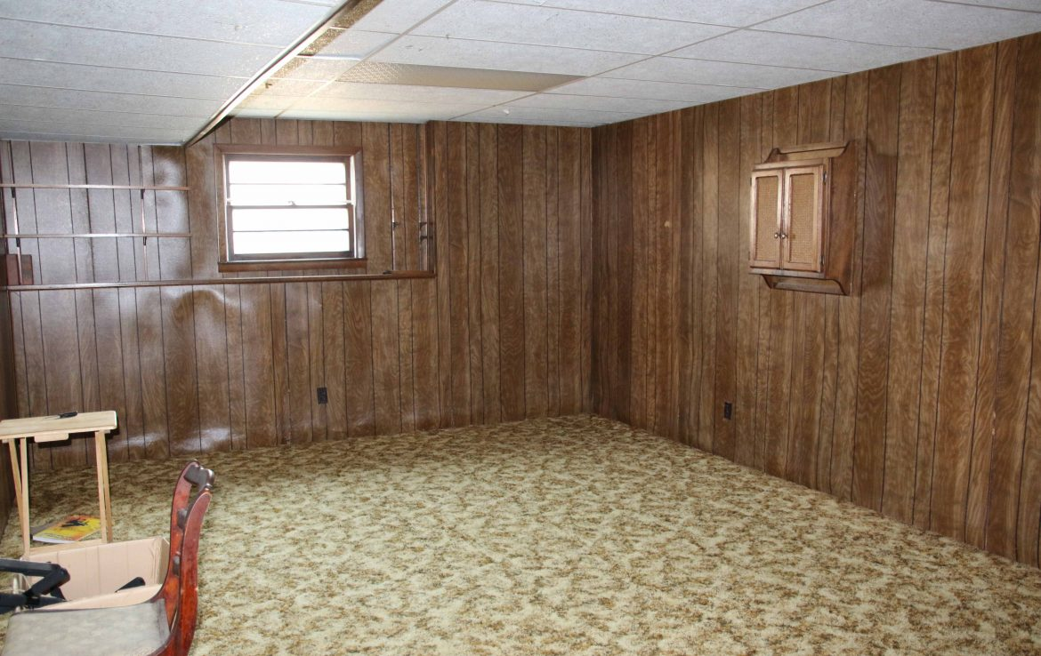 Lower level (non-conforming) bedroom or rec area