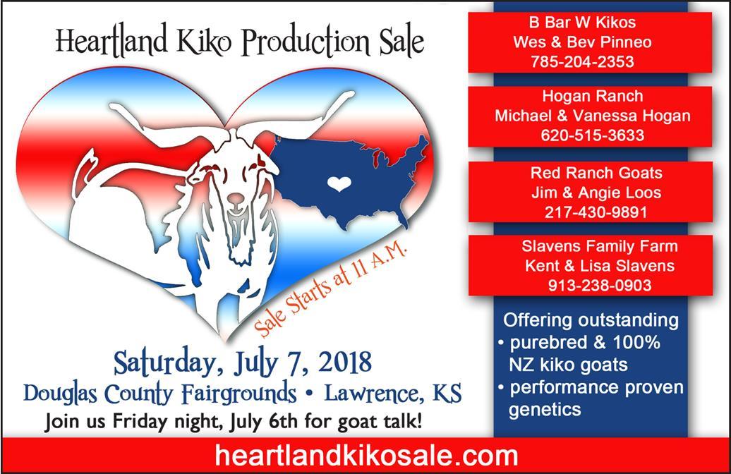 Heartland Kiko Goat Production Sale – July 7, 2018 – Flory